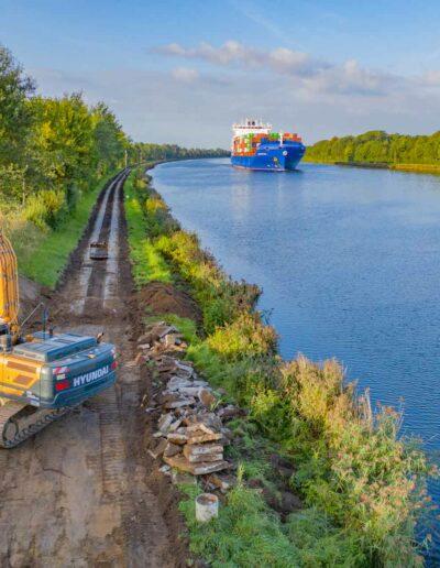 Wirtschaftswegebau am Nord-Ostsee-Kanal